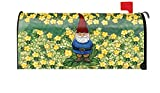 Toland Home Garden Garden Gnome Cute Spring Yellow Flower Magnetic Mailbox Cover