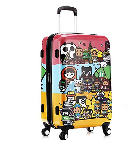 Suitcase, 20-inch children's password box, mute caster luggage, expandable, TSA customs password lock, security anti-theft by HongHe (Image #1)