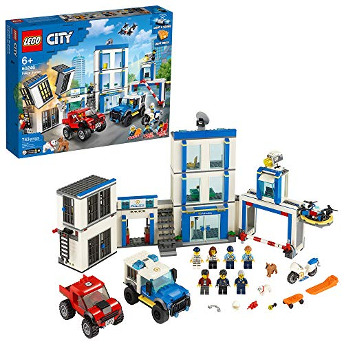 LEGO City Police Station 60246 Police Toy, Fun Building Set for Kids, New 2020 (743 Pieces)