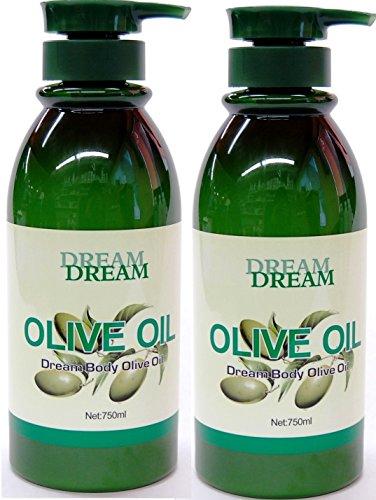 Dream Body Olive Oil 750ml (Pack of 2) - Olive Body Moisturizer