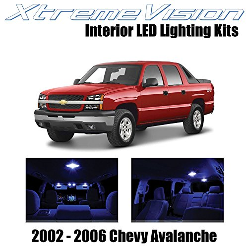 XtremeVision Interior LED for Chevy Avalanche 2002-2006 (16 Pieces) Blue Interior LED Kit + Installation - 2005 Avalanche Chevy