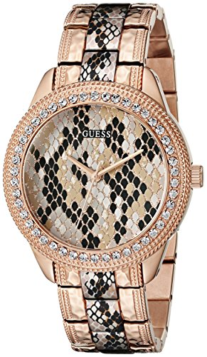 GUESS Women's Quartz Stainless Steel Casual Watch, Color:Rose Gold-Toned (Model: U0624L2)