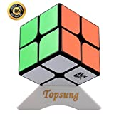 Moyu Lingpo 2x2 Magic Cube Puzzle Speed Cube 2x2x2 Black with Tripod Base and Cube Box