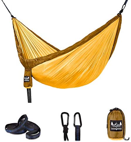Better Outdoor Supply Camping Hammock Kit Single Double with Tree Straps – Durable – Lightweight – Used for- Relaxing Indoor Outdoor-Travel Portable Multiple Colors