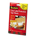 3M Heavyweight 4x6 Clear Label Protector Tape Sheets, Two 25 Sheet Pads/Pack (MMM822P) (822-P)