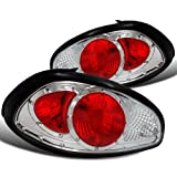 car parts for pontiac - Spec-D Tuning LT-GPX97-DP Pontiac Grand Prix Gt Se Gtp Chrome Clear Red Tail Lights Depo