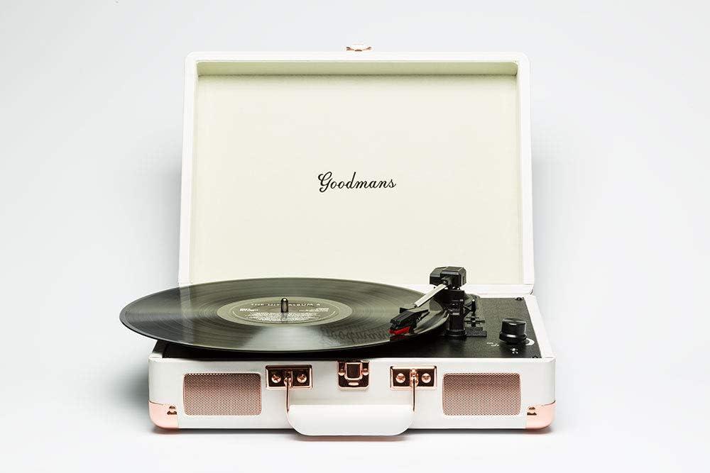 Tocadiscos Goodmans Ealing Blanco: Amazon.es: Electrónica