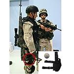 AGPTEK Etui à Pistolet Holster De Cuisse Pistolet Jambe Droite pour Armée Tactique en Nylon Noir et Réglable 7
