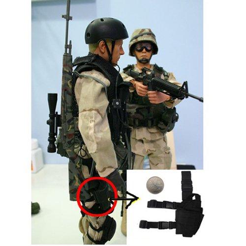 AGPTEK Etui à Pistolet Holster De Cuisse Pistolet Jambe Droite pour Armée Tactique en Nylon Noir et Réglable 2