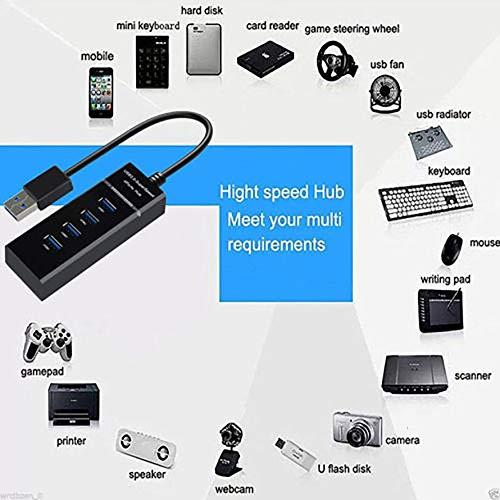 Kongqiabona Hub Dati USB 3.0 a 4 Porte per MacBook Mac PRO//Mini Surface PRO Notebook Pc USB Drives Splitter hub USB HDD Mobile
