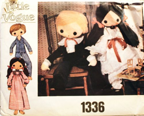 Vogue 1336 Boy and Girl Doll and Clothes Pattern Victorian 32