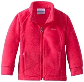 Columbia Little Girls' Benton Springs Fleece Jacket, Bright Rose, XX-Small