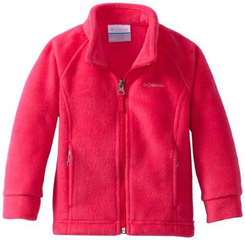 Columbia Little Girls' Benton Springs Fleece Jacket, Bright Rose, XX-Small