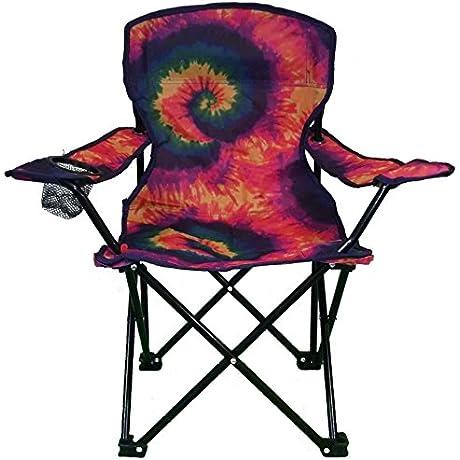 Lake Trail Tie Dye Junior Kids Folding Chair