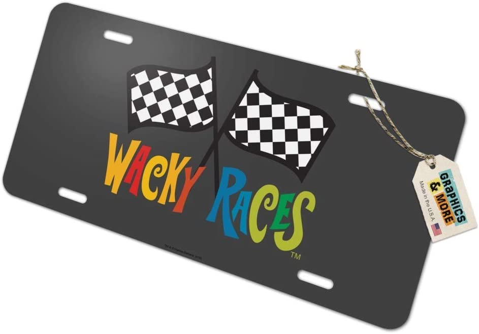 Graphics and More Wacky Races Logo Novelty Metal Vanity Tag License Plate