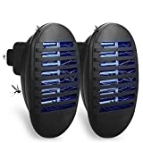 Sammiu 2 Pack Plug in Bug Zapper Mosquito Insect Killer Lamp Indoor, Flies Flying Pests Control for Home Yard Garden Patio Office (Black)