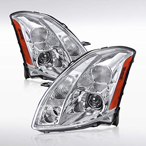 2004 Nissan Maxima Headlight - Autozensation For Nissan Maxima SE SL Chrome Clear Projector Headlights Left+Right Pair