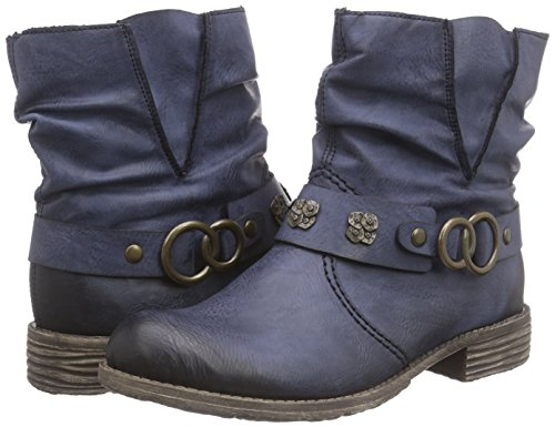 Mujer 14 Ozean Rieker74798 botas Blau Azul qnx46F45