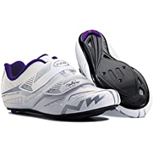 NORTHWAVE Woman road cycling shoes ECLIPSE EVO white/grey