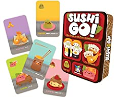 Pass the sushi! In this fast-playing card game, the goal is to grab the best combination of sushi dishes as they whiz by. Score points for making the most maki rolls or for collecting a full set of sashimi. Dip your favorite nigiri in wasabi ...