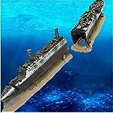 Flii Fish Tank Aquarium Decoration Mini Titantic Wooden Boat Aquarium Accessories Ornament Pirate Ship Resin Big Size 38.5*6*9cm