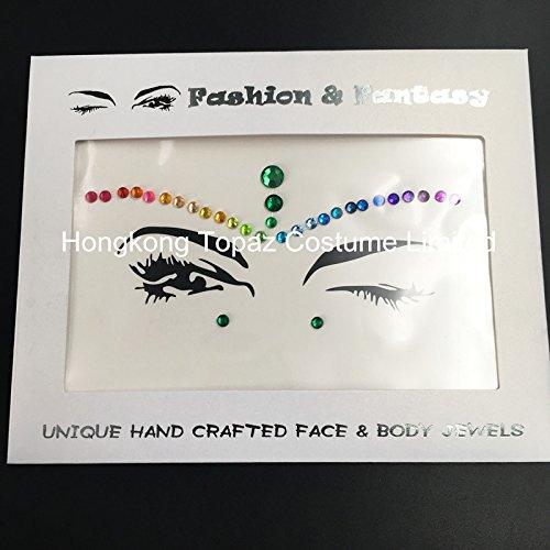 Autumn Jewels (Mermaid Face Gems Festival Jewels Crystals Bindi Rainbow Tears Rhinestone Tattoo Face gems)