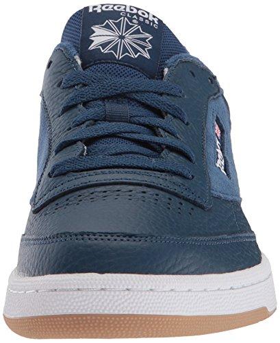 Men's Gum Blue ESTL Washed Reebok White C Club 85 Sneaker Cw4BdBqU
