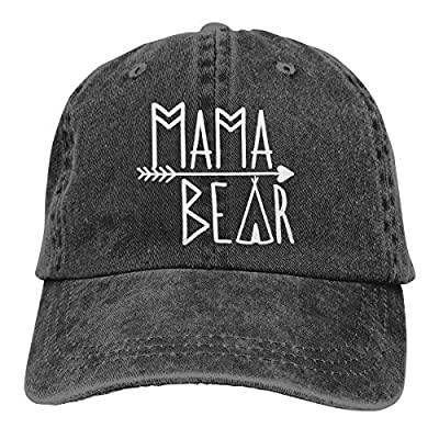 Waldeal Mama Bear Denim Vintage Baseball Cap Adjustable Trucker Hat for Mom