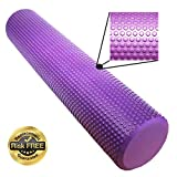 EasY FoxY ToY Foam Roller, Ø3.75'x16.5' Trigger Point Body Massage Roll a Fascia Cellulite Tool; Sore Muscles Recovery with Back Pain Relief; Eco-Friendly Low Density EVA Foam for Physical Therapy
