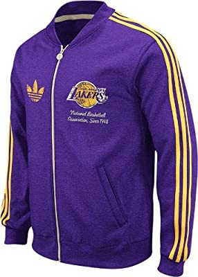 adidas Los Angeles Lakers Throwback Full Zip Vintage Track Jacket ...