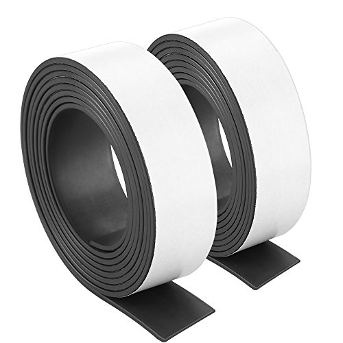 Caydo 80Mil 1-Inch x 12-Feet Flexible Adhesive Magnet Strip Roll Magnetic Strips Sheets Paper