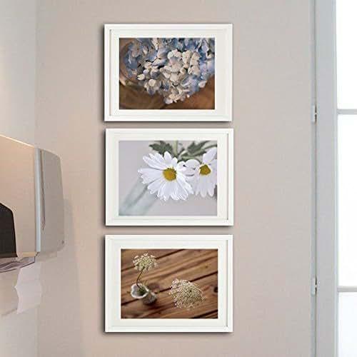 Amazon.com: Rustic Bathroom Decor, Shabby Chic Photographic Prints, Set Of 3 Bath Pictures 8x10