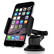 Amazon #LightningDeal 84% claimed: Vantrue Car Mount Phone Holder - M1 360° Rotation Universal Car Mount Cradle for iPhone 6 6S Plus SE 5S, Samsung Galaxy S7 S6 Edge S5, Nexus 6P, LG G4, Blackberry, HTC M9 and More Android Smartphones