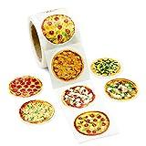 200Pcs Realistic Pizza Stickers for School Reward Sticker