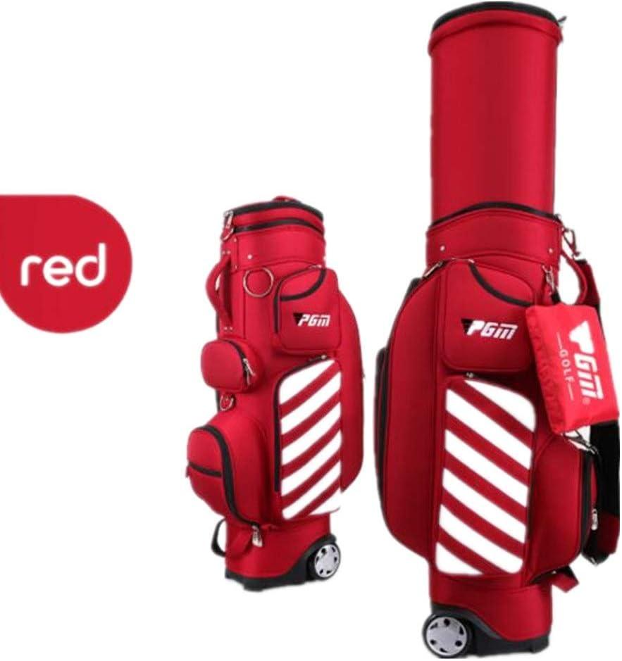 GOLF トラベルカバー ゴルフ伸縮キューバッグゴルフバッグ男性と女性プーリーハードシェルボールキャップエアバッグと引き込み式 ゴルフバッグ 旅行 宅配 保護 (色 : G, サイズ : Free Size) G Free Size