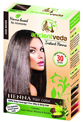 Ancient Veda Henna Hair Color Golden Brown 60 G 2 11 Oz Golden