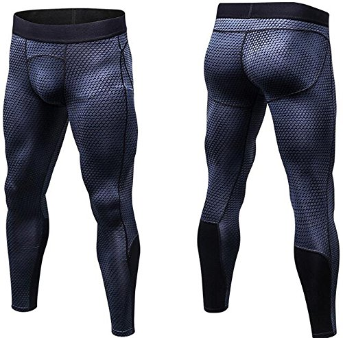 Findci Mens Compression Trousers Workout Pants Quick Dry Basketball Training Tight Sweatpants