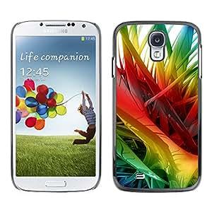 X-ray Impreso colorido protector duro espalda Funda piel de Shell para SAMSUNG Galaxy S4 IV / i9500 / i9515 / i9505G / SGH-i337 - Rainbow 3D Art Spikes Hair