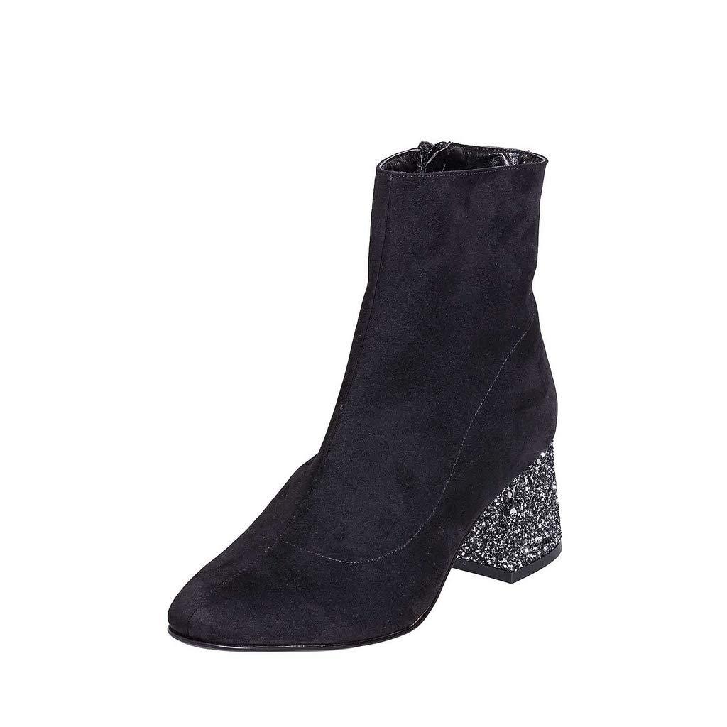 Stiefel aus Camouflage schwarz Größe 41 mit Tasche Basic 5 cm aus Glitter SCL41-01 -