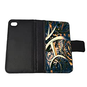 Steampunk Silver Time - iPhone 4/4s Wallet Case