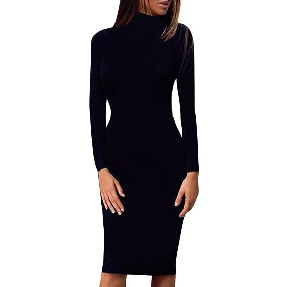 8058b0da0f4e Damen Elegant Kleider T-Shirt langarmkleid Strandkleid Lose Einfache  Einfarbig Maxi Kleidet beiläufige Lange Streifen