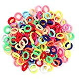 Hair Ties for Kids, 100pcs Small Rubber Hair Bands Elastic Ponytail Holders, Tiny Soft Hair Ties for Baby Toddlers Girls…