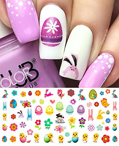 Easter Nail Decals Assortment #2 Water Slide Nail Art Decals - Salon Quality 5.5