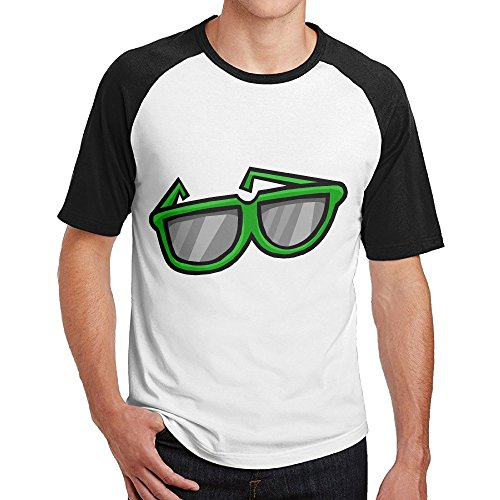 Double Happiness Raglan Giant Green Sunglasses T-shirts Black S For Mens Or - Sunglasses Birmingham Shop