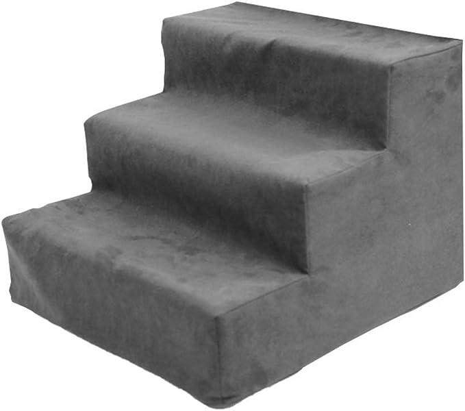 QTQZDD Escaleras para Mascotas Escalera de 3 peldaños Esponja Gruesa pequeña Escalada ecológica, 4 Colores de Doble Uso (Color: Gris, tamaño: 38x40x30cm): Amazon.es: Hogar