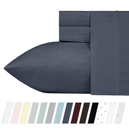 California Design Den 400 Thread Count 100% Cotton Sheet Set, Indigo Batik  Queen Size