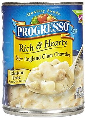 Progresso Rich & Hearty Soup - New England Clam Chowder - 18.5 oz