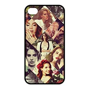Happinessexplorer Lana Del Rey iPhone 4/4S Case, Best Durable Silicone Lana Del Rey iPhone 4/4S TPU Case