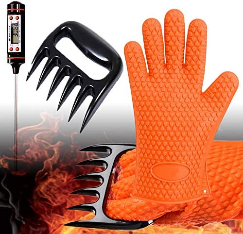 GlovesApparel BBQ Grill Gloves Resistant Thermometer Accesories product image