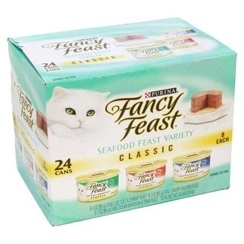Fancy Cat Food Gourmet 3-Flavor Variety Pack 72OZ